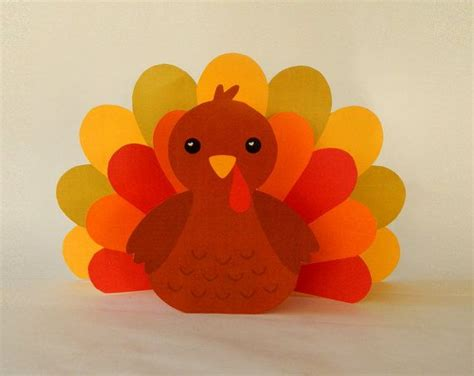 printable thanksgiving turkey decorations instant download paper turkey centerpiece diy