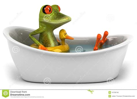 frog in bathtub frog in a bath stock photo image 10739740