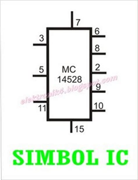 simbol ic integrated circuit listrik dan elektronika ic integrated circuit