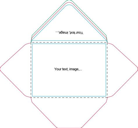 a7 envelope template craft ideas pinterest