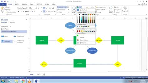 erd with visio cara membuat erd entity relationship diagram di