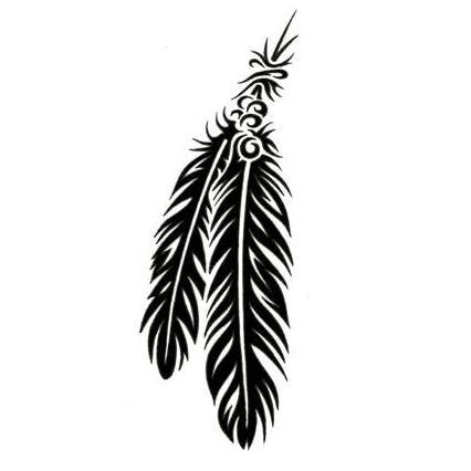 feather tribal tattoo american tattoos designs gallery unique