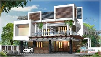 contemporary style house plans contemporary type house elevation kerala model home plans