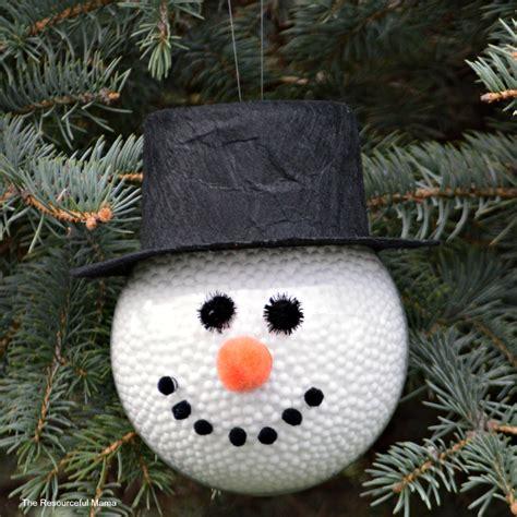 diy frosty  snowman ornament  resourceful mama