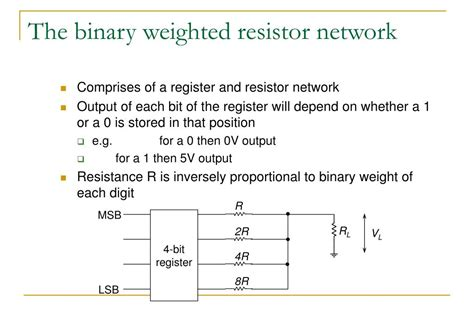 resistor network volume weighted resistor network 28 images weighted resistor digital to analog converter