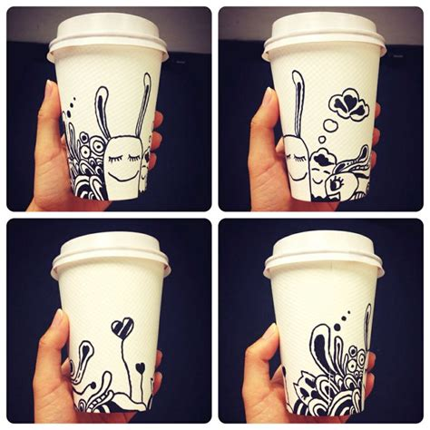 doodle starbucks mug 17 best images about kopje koffie on sharpie