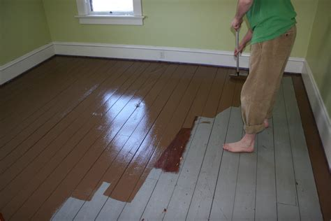 painting a floor painted wood floors will liven up your home how to diy fun times guide to home building
