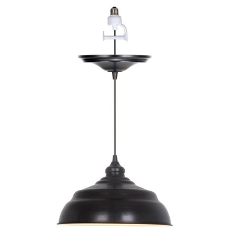 l shade pendant kit home decorators collection dane 1 light brushed bronze