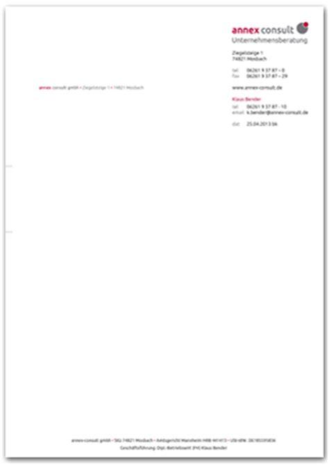 Offiziellen Briefbogen Teil Einer Firma Unternehmensberatung