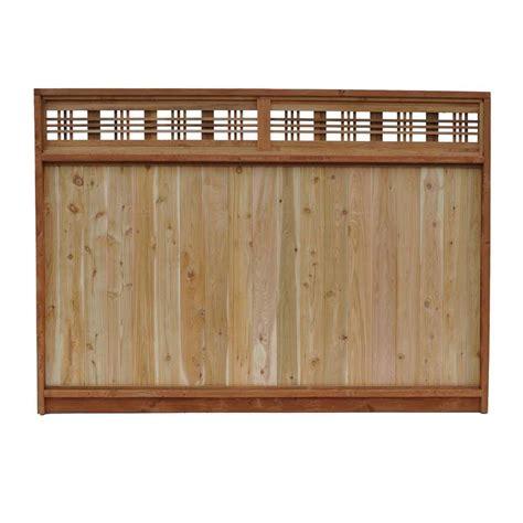 Topi 5 Panel 10 signature development 6 ft h x 8 ft w western cedar horizontal lattice top fence panel