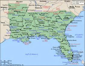 Map Of The South Of Usa by Deep South Map Region Area Maps Of The United States