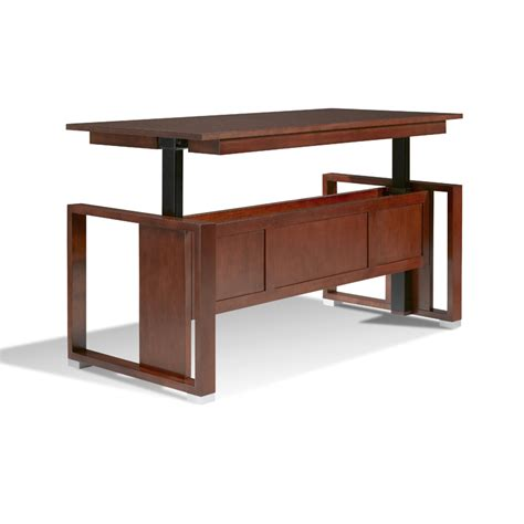 adjustable standing wood desk brolero