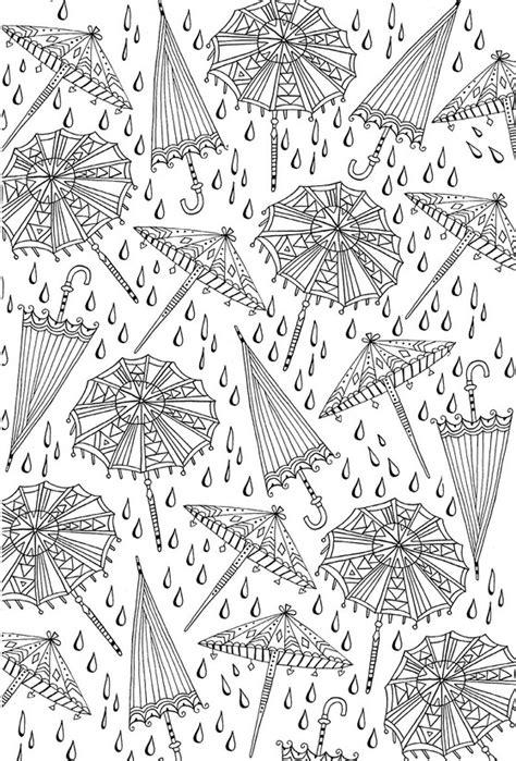 intricate fall coloring pages ausmalen erwachsene herbst regenschirme 2