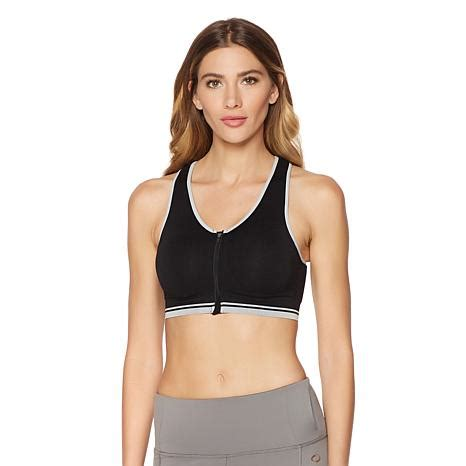 Shopping For Sports Bra by Copper Fit Zip Front Seamless Sports Bra 8265402 Hsn