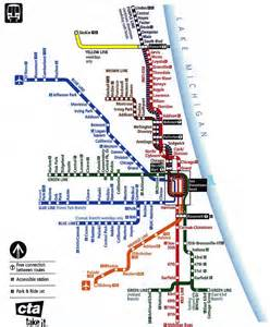 Chicago Cta Map by Chicago El Train Map Bing Images