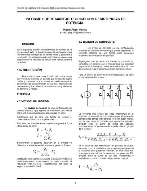 calculo integral circuitos electricos calam 233 o divisor de tensi 243 n divisor de corriente mallas y nodos