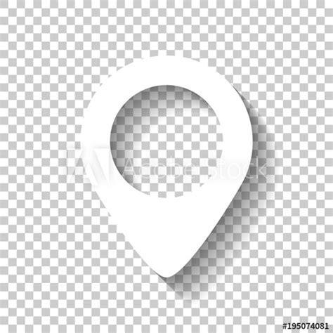 map label icon white icon  shadow  transparent