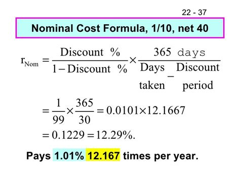 Credit Cost Formula Working Capital Policy