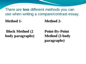 Compare And Contrast Essay Point By Point Method by Powerpoint Presentation Compare And Contrast Essay Writing By Miss Kris Ela