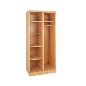 tough plus open wardrobe shelf unit h1803 x w810 x d595