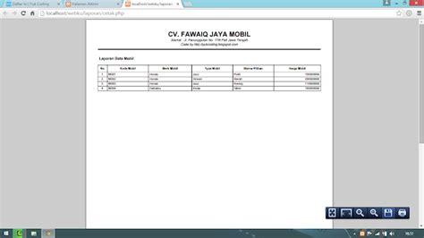 membuat website dengan html pdf membuat report laporan pdf dengan php dan fpdf yukcoding