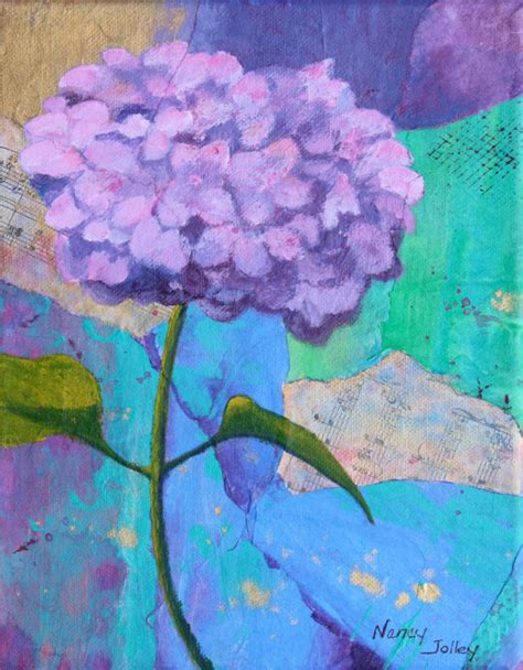 acrylic painting hydrangea hydrangea flower painting original acrylic and by