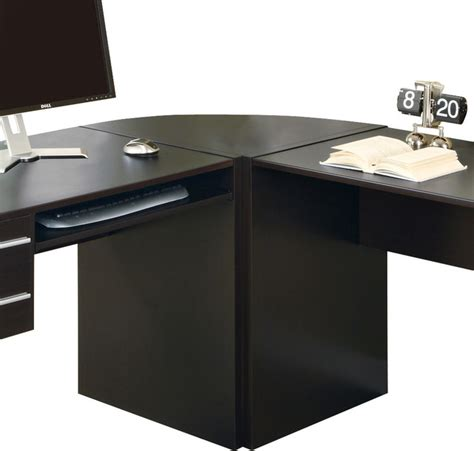 Monarch Specialties Corner Desk Monarch Specialties I 7017 Cappuccino Hollow Corner Desk Contemporary Desks And Hutches