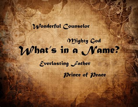 whats in a what s in a name carols spiritual