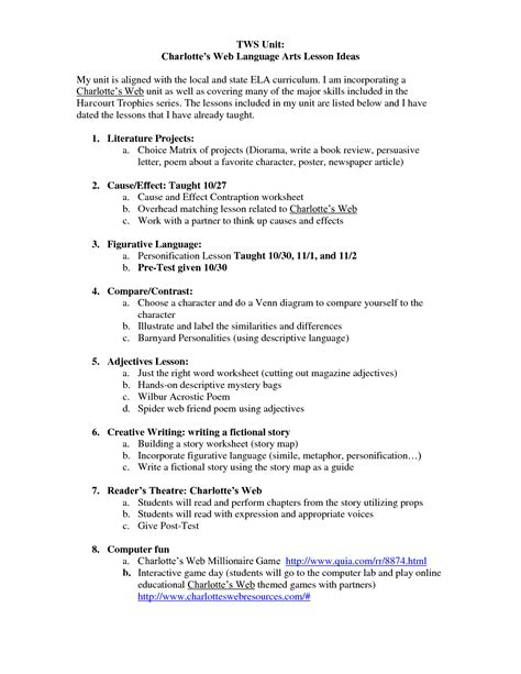 17 Best Images of Charlotte's Web Writing Worksheets