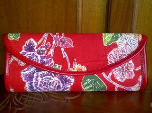 Mukena Ayu Thing Thing ready clutch batik kulit lilacshop