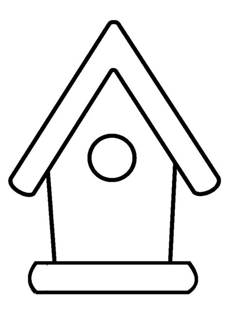 birdhouse coloring page bird house outline coloring pages bird house outline