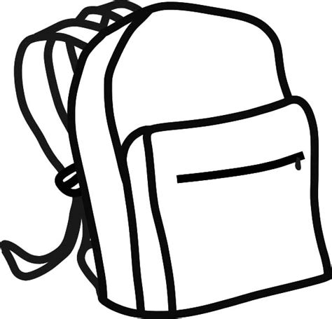 Backpack Outline Coloring Pages Backpack Outline Coloring Pages Best Place To Color Printable Backpack Template