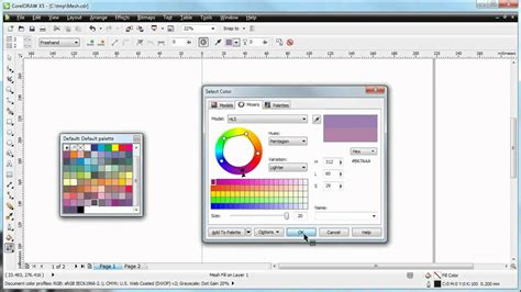 corel draw x5 tools list coreldraw x5 demo what the mesh fill tool can do youtube