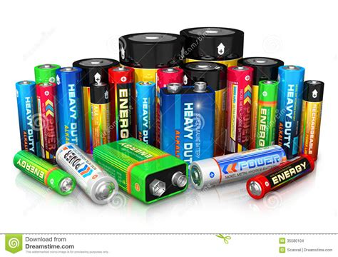 Batt Checker 2 7cell collection of different batteries stock illustration image 35580104