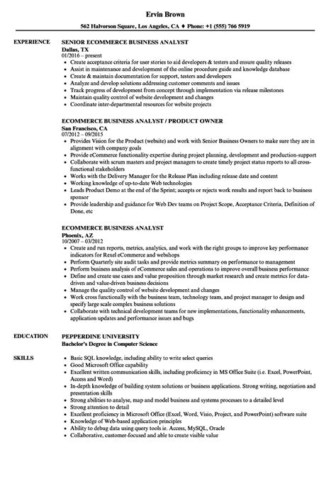Ba Resume Exles by 92 Sle Ba Resume Objective For Business Analyst