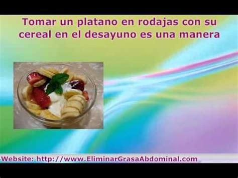 dieta  eliminar grasa abdominal alimentos  comidas  adelgazar youtube