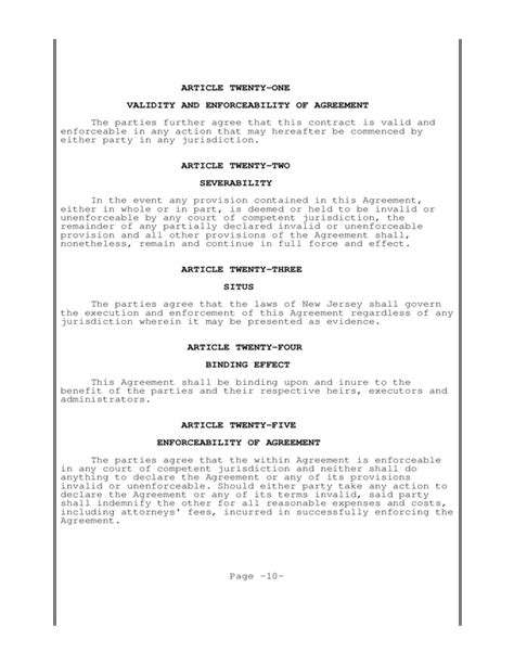 Postnuptial Agreement New Jersey Free Download Post Nuptial Agreement Template