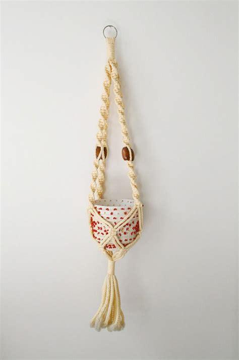 Macrame Hanging Basket - macrame hanging basket
