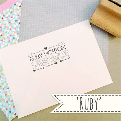 rubber st address personalised address rubber st by the posy print