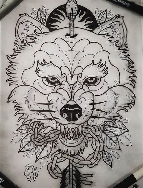 traditional wolf tattoo designs best 25 wolf design ideas on