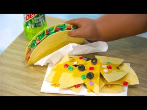 How To Make Doll Food Out Of Paper - how to make doll nachos and tacos