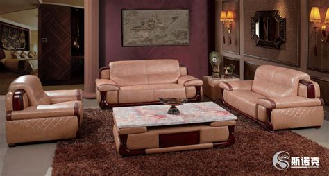 china wooden home furniture leather sofa set q7