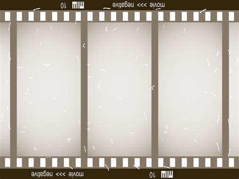 Old Film Strip Powerpoint Templates   3D Graphics, Black