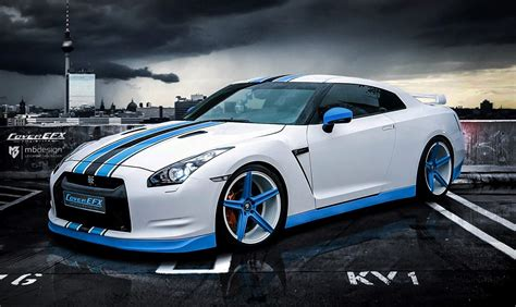nissan sports car blue gtr white and blue stripes nissan gtr pinterest