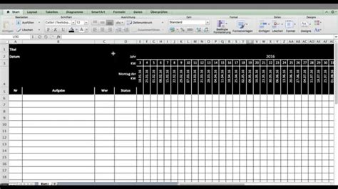 tutorial excel template oder vorlage fuer timing terminplan youtube
