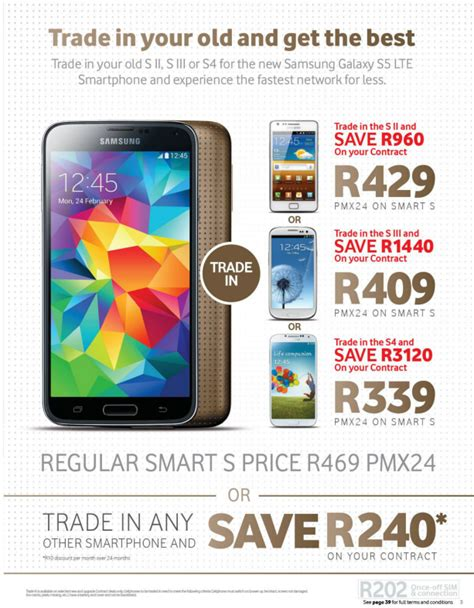 best samsung s5 deals vodacom offers trade in discounts for galaxy s5 contracts