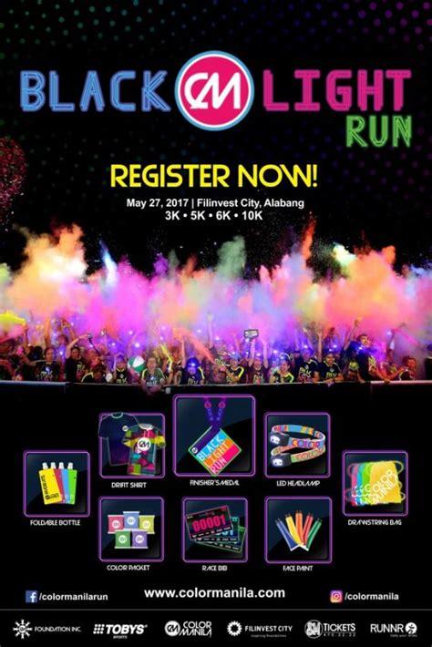 black light run 2017 color manila blacklight run 2017 philippine primer