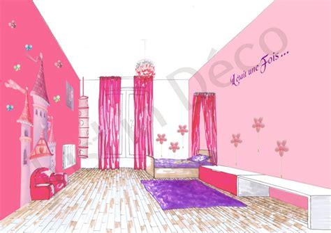 d馗oration de chambre fille idee deco chambre fille princesse