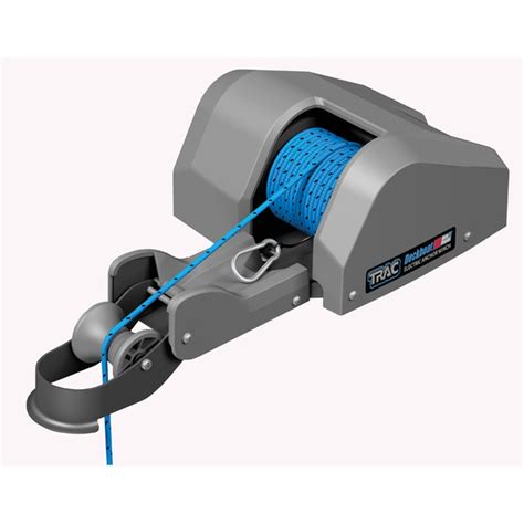small boat electric anchor winch trac outdoor products deckboat 35 autodeploy electric