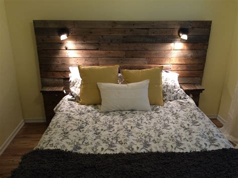 diy headboards with lights pallet headboard with shelf lights and plugs for cell